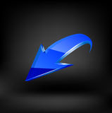 Blue arrow. Vector Stock Images