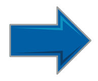 Blue arrow. Vector illustration of the blue arrow on a white royalty free illustration