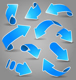 Blue arrows Royalty Free Stock Photo