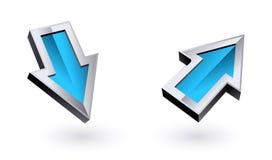 Blue arrows Stock Photography
