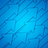 Blue Arrows. Abstract background with blue Arrows Stock Images