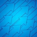 Blue Arrows Stock Images