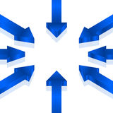 Blue arrows Stock Image