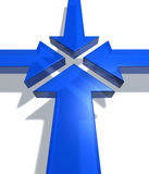 Blue arrows Royalty Free Stock Images