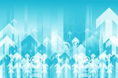 Blue Arrows Background Royalty Free Stock Images