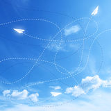 Blue arrows background. With lines Royalty Free Stock Photo