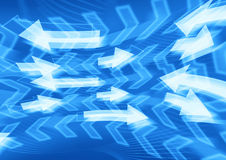 Blue arrows background Royalty Free Stock Image