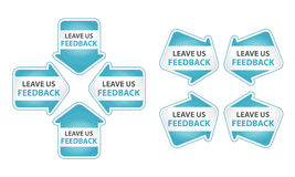 Blue Arrows with Leave Us Feedback Tag Royalty Free Stock Photography