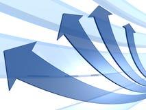 Blue arrows motion business concept Stock Images