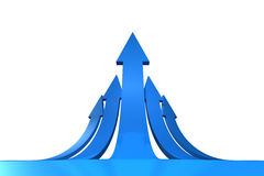 Blue arrows pointing up Royalty Free Stock Images