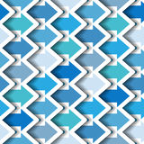 Blue Arrows Seamless background Stock Photos