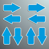 Blue arrows in various directions with a texture a Royalty Free Stock Photo