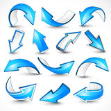 Blue arrows. Vector illustration Royalty Free Stock Photos