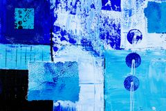 Blue art background Stock Photography