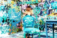 Blue, Art, Graffiti, Water royalty free stock photos