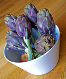 Blue Artichoke (and Apple) Stock Images