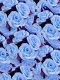 Blue artificial flowers Stock Photography