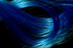 Blue artificial hair Royalty Free Stock Photography