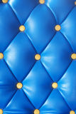 Blue artificial leather Stock Photography