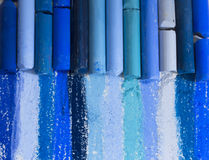 Blue artistic crayons Stock Photo