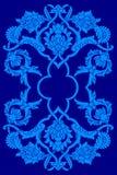 Blue artistic ottoman motif series Royalty Free Stock Photos