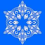 Blue artistic ottoman pattern series seventy two Royalty Free Stock Image