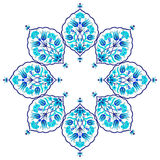 Blue artistic ottoman seamless pattern series sixty eight Royalty Free Stock Photography