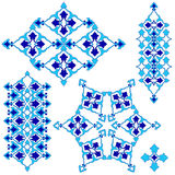 Blue artistic ottoman seamless pattern series sixty four Royalty Free Stock Photography