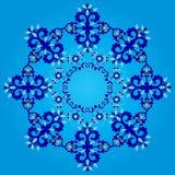 Blue artistic ottoman seamless pattern series sixty three Stock Image