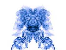 Blue artistic smoke on white Royalty Free Stock Image