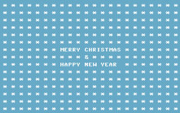 Blue ascii art retro computer christmas card Royalty Free Stock Image