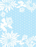 Blue Asian flowers background Royalty Free Stock Images