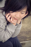 Blue Asian woman Stock Images