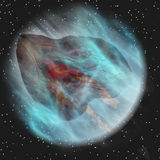 Blue asteroid Stock Images