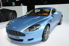 Blue Aston Martin DB9 Royalty Free Stock Images