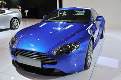 Blue Aston Martin v8 vantage s Royalty Free Stock Photography