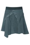 Blue asymmetric skirt Stock Photography