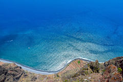 Blue Atlantic ocean. Madeira Portugal royalty free stock photography