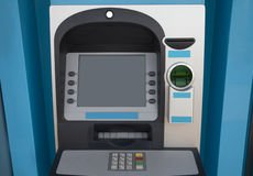Blue ATM Royalty Free Stock Image