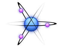 Blue Atom. An illustration of an atom created in Photoshop Royalty Free Illustration