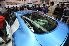 Blue audi r8 china edition Royalty Free Stock Images