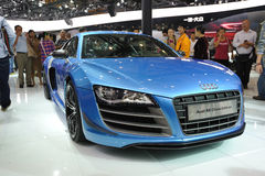 Blue audi r8 china edition Stock Photography
