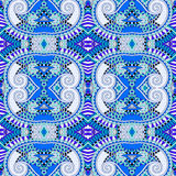 Blue authentic seamless geometry vintage pattern royalty free illustration