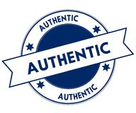 Blue AUTHENTIC stamp. Royalty Free Stock Photo