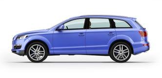 Blue automobile, luxury SUV. Isolated on white background. Stock Photo