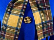 Blue autumn female  coat Stock Images