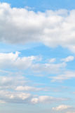 Blue autumn sky with cumulus clouds Stock Photos