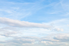 Blue autumn sky with layer of cumulus clouds Royalty Free Stock Images