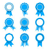 Blue Award Medals Stock Photo