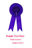Blue award ribbon Stock Photo